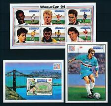 [105821] Dominica 1994 World cup soccer football USA 3 Souv. Sheets MNH
