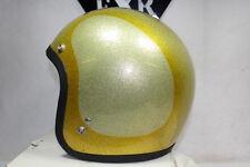 Shoei Buco Gold Silver 1973 3/4 helmet M Harley Honda motorcycle NOS EPS19986