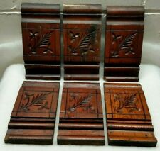 New listing Matching Set 6 Victorian Spoon Carved Plinth Blocks Antique Salvage Woodwork