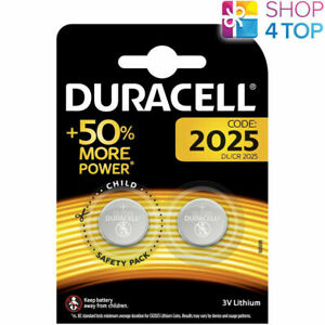 2 DURACELL CR2025 LITHIUM BATTERIES 3V COIN CELL DL2025 2BL EXP 2029 NEW
