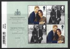 Gran Bretaña 2018 THE ROYAL Boda Príncipe Harry, Meghan Markle Hoja Miniatura