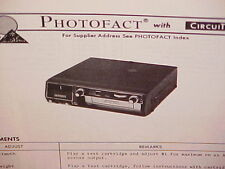 1976 PIONEER CAR AUTO 8-TRACK STEREO TAPE PLAYER SERVICE MANUAL MODEL TP-200