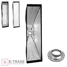Striplight Softbox mit 2 Diffusoren // 30x140cm // für Bowens Anschluss // strip