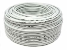 12 Gauge 100 Feet White Speaker Wire Zip Cable Copper Clad Car Stereo Audiopipe