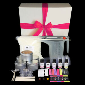 Gift Boxed Candle Making Kit - Make your own soy candles, tealights and melts