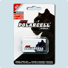 PolarCell 9V Block 6LR61 6F22 PP3 9 Volt Premium Akku Ni-MH aufladbare Batterien