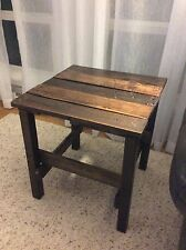 Handmade Rustic End Table