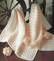"Gorgeous Baby Blankets Knitting & Crochet Patterns DK 20x26""  631"