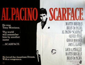 SCARFACE ... 1983 ..  QUAD POSTER