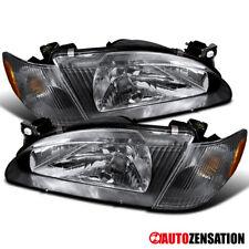 For 1998-2000 Toyota Corolla Black Headlights Corner Signal Lamps Left+Right