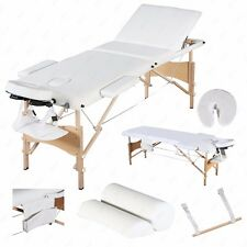 "84""L Portable Massage Table 3 Fold Facial SPA Bed Sheet+2 Bolster+Cradle+Hanger"