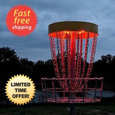 2 LED Disc Golf Basket Lights Innova MVP Dynamic DGA WestSide Discmania up glow