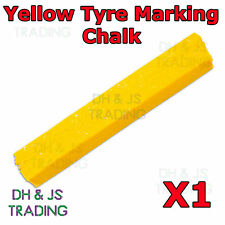 1 x Yellow Tyre Chalk Wax Marker Markers Tire Tyre Crayon Repair Marking Chalk