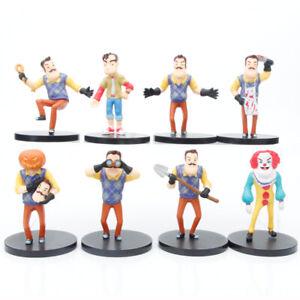8PC Hello Neighbor Toys Game Butcher Neighbor action Figure Doll Kid xmas Gift
