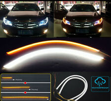 US 60cm LED Car head light DRL Day Turn Signal Light Flexible Strip lamp 1pcs