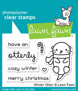 Lawn Fawn Winter Otter  Clear Stamps LF1474