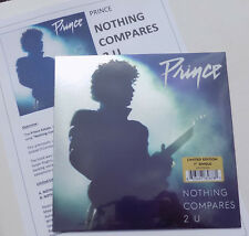 "PRINCE 7"" NOTHING COMPARES 2 U Vinyle Noir 2018 Limited + PROMO Info Sheet Seale"