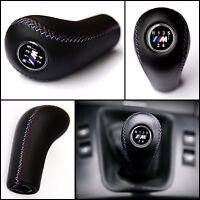 BMW M POWER 5 SPEED GEAR SHIFT KNOB E85 E53 E46 E36 E30 M3 M5 M6 GENUINE LEATHER