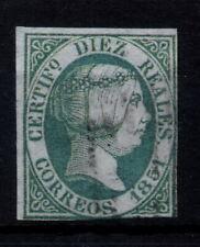 Edifil 11 usado, 10 reales, 1851. Isabel II. España, Spain, Filatelia