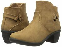 Easy Street Women's Shoes Dawnta Closed Toe Ankle Fashion, Camel Matte, Size 8.0