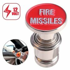 Red Car Cigarette Lighter Fire Missiles Button Replacement 12V Accessory Push