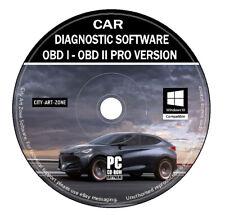 Pro Car Diagnostic Software OBD 1 - OBD 2 + ECU BHP Tuning Remapping ELM 327 CD