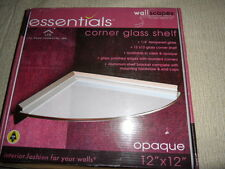 "WallScapes Essentials Corner Glass Shelf 12"" x 12"" Opaque"
