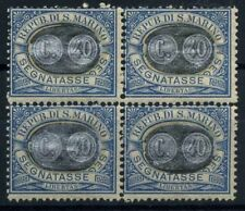 San Marino 1931 Sass. 41 Nuovo ** 100% Quartina Segnatasse