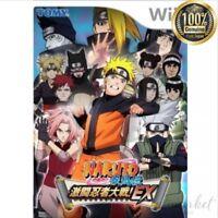 NEW NARUTO - Shippuuden Gekitou Ninja Wars! EX (no benefit) - Wii From JAPAN