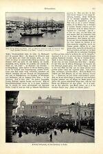 Unruhen in Odessa Meuterer Panzerkreuzer Potemkin beschießt die Stadt von 1905
