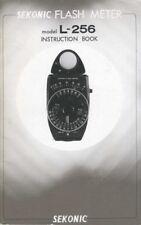 Sekonic L-256 Flash Meter Instruction Manual