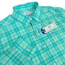 Southern Tide Mens Medium Intercoastal Long Sleeve Button Shirt Green Plaid UPF