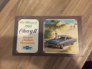 1968 CHEVROLET NOVA,CHEVY2  BROCHURE ACCESSORIES     VERY RARE PIECE