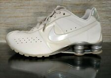the latest d178a 9f1bd NIKE SHOX CLASSIC II Women s Sz 9 White Silver Leather RUNNING SHOES  343907-111