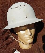 Vintage WW2 U.S. Air Raid Warden White All Steel Helmet, Rare, Super Nice!