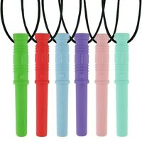 6Pcs Sensory Chewing Necklace,SLGOL Chew Pendant for baby or Autism Children