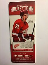 DETROIT RED WINGS 2018-19 OPENING NIGHT (10/04/18) COMMEMORATIVE TICKET STUB
