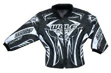 "Wulfsport pro fx black kids ride jacket size 24"" motocross motorbike MX"