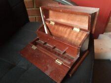 vintage wooden desk stationery box