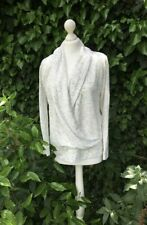 Marks & Spencer Grey Fleck Ivory Mix Casual Top Cardigan Size 16 **NEW**