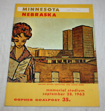 Minnesota Gophers Football Program vs Nebraska Cornhuskers | September 28 1963