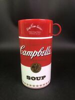 VINTAGE CAMPBELLS TOMATO SOUP THERMOS PITCHER WITH THERMAL MUG - MADE IN USA