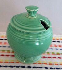 Vintage Fiestaware Green Marmalade Jar Fiesta Jam Jelly Jar 1930s 1940s