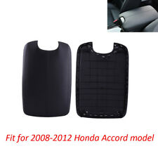 Black Arm Rest Armrest Center Console Lid Cover Fit 08-12 Honda Accord W/ BASE