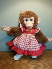 "Vintage The Monkey Tippy rubber face RUSHTON CO. 15"" Brown Fur"