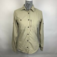 Patagonia Top Khaki Outdoor Camping Long Sleeve Womens Casual Long Sleeve Size 8