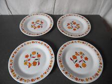 Vintage Lot de 4 Assiettes à dessert Acopal fleurs Très bon état