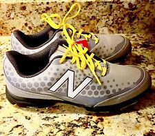 New Balance NBG2002 Gray Men's Leather Golf Shoe Size 9 NWOB
