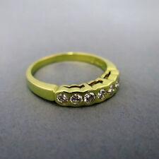 P1 Echtschmuck-Ringe im Eternity-Stil aus Gelbgold