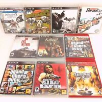 Lot of 10 Playstation 3 Open World Games - GTA Red Dead Batman Assassin's Creed